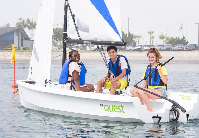 Advanced sailing group.