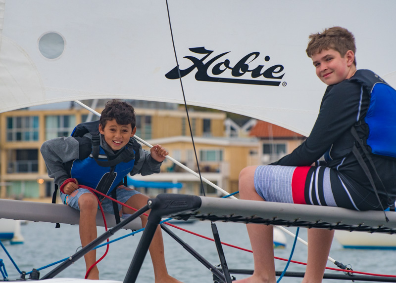 Hobie sailing group.